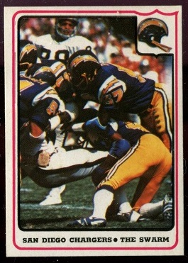 San Diego Chargers - The Swarm 1976 Fleer Team Action football card