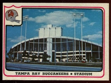 Tampa Bay Buccaneers - Stadium 1976 Fleer Team Action football card