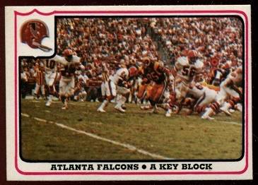 Atlanta Falcons - A Key Block 1976 Fleer Team Action football card