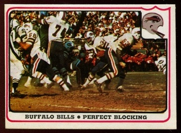 Buffalo Bills - Perfect Blocking 1976 Fleer Team Action football card