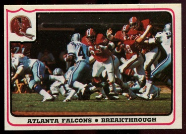 Atlanta Falcons - Breakthrough 1976 Fleer Team Action football card