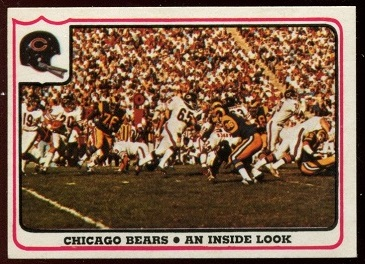 Chicago Bears - An Inside Look 1976 Fleer Team Action football card