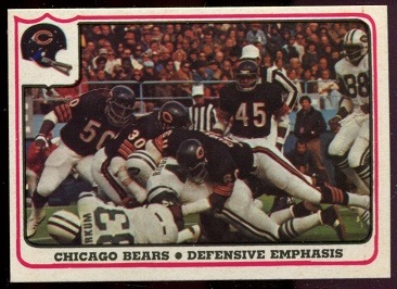 Chicago Bears - Defensive Emphasis 1976 Fleer Team Action football card