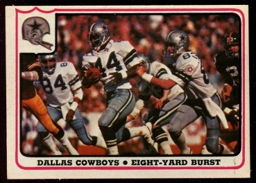 Dallas Cowboys - Eight-Yard Burst 1976 Fleer Team Action football card