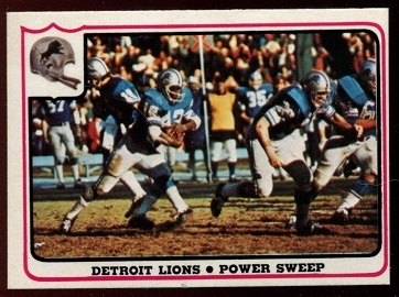 Detroit Lions - Power Sweep 1976 Fleer Team Action football card