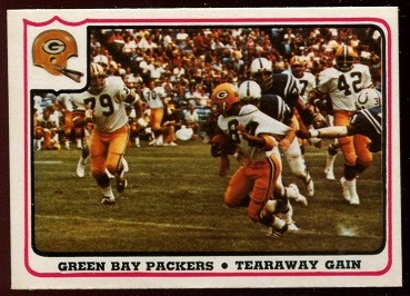 Green Bay Packers - Tearaway Gain 1976 Fleer Team Action football card