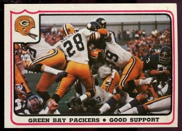 Green Bay Packers - Good Support 1976 Fleer Team Action football card