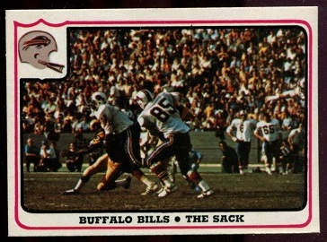 Buffalo Bills - The Sack 1976 Fleer Team Action football card