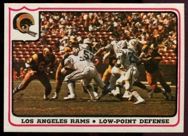 Los Angeles Rams - Low-Point Defense 1976 Fleer Team Action football card