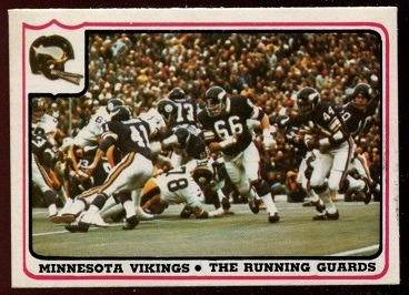 Minnesota Vikings - The Running Guards 1976 Fleer Team Action football card
