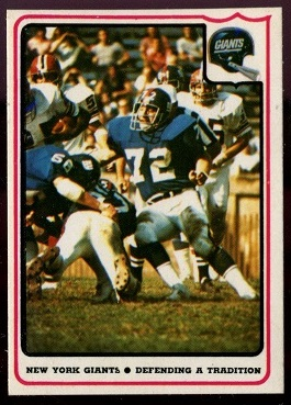 New York Giants - Defending a Tradition 1976 Fleer Team Action football card