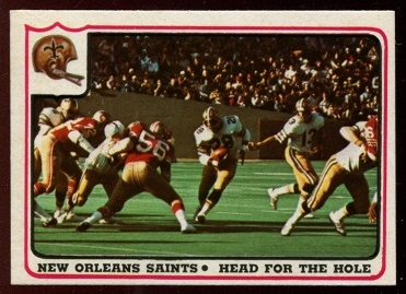New Orleans Saints - Head for the Hole 1976 Fleer Team Action football card