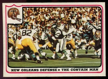 New Orleans Saints - The Contain Man 1976 Fleer Team Action football card