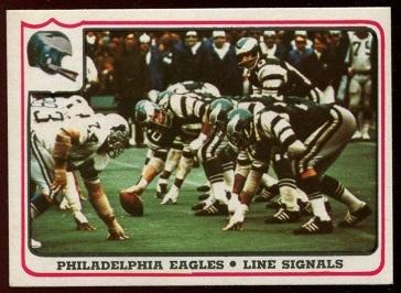 Philadelphia Eagles - Line Signals 1976 Fleer Team Action football card