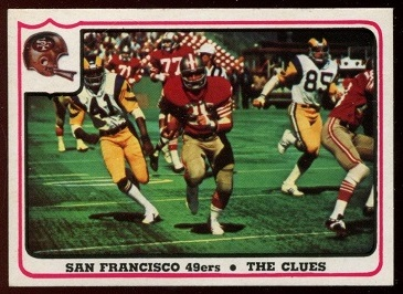 San Francisco 49ers - The Clues 1976 Fleer Team Action football card