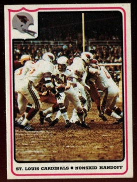 St. Louis Cardinals - Nonskid Handoff 1976 Fleer Team Action football card