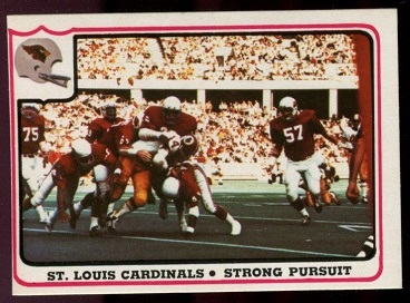 St. Louis Cardinals - Strong Pursuit 1976 Fleer Team Action football card