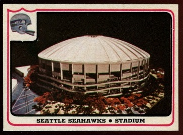 Seattle Seahawks - Stadium 1976 Fleer Team Action football card