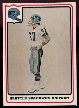 Seattle Seahawks Uniform 1976 Fleer Team Action football card