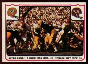 Super Bowl I 1976 Fleer Team Action football card