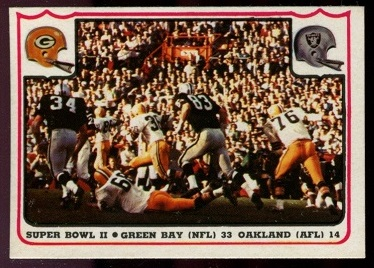 Super Bowl II 1976 Fleer Team Action football card