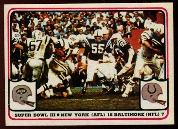 Super Bowl III 1976 Fleer Team Action football card