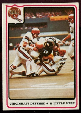 Cincinnati Bengals - A Little Help 1976 Fleer Team Action football card