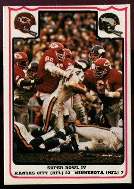 Super Bowl IV 1976 Fleer Team Action football card