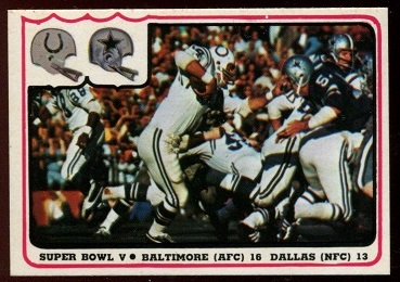 Super Bowl V 1976 Fleer Team Action football card