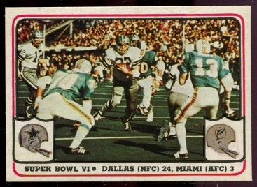 Super Bowl VI 1976 Fleer Team Action football card