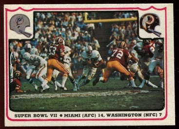 Super Bowl VII 1976 Fleer Team Action football card