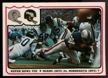 Super Bowl VIII 1976 Fleer Team Action football card