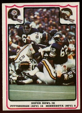 Super Bowl IX 1976 Fleer Team Action football card
