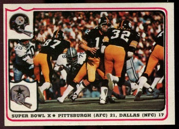 Super Bowl X 1976 Fleer Team Action football card