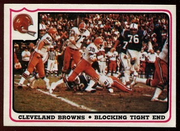 Cleveland Browns - Blocking Tight End 1976 Fleer Team Action football card