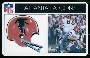 Atlanta Falcons 1976 Popsicle football card
