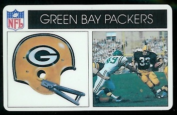 Green Bay Packers 1976 Popsicle football card