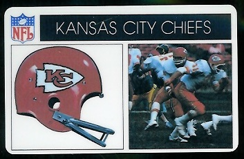 Kansas City Chiefs 1976 Popsicle football card