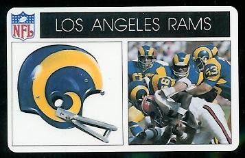 Los Angeles Rams 1976 Popsicle football card
