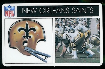 New Orleans Saints 1976 Popsicle football card