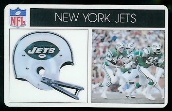 New York Jets 1976 Popsicle football card