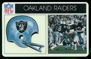 Oakland Raiders 1976 Popsicle football card