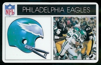 Philadelphia Eagles 1976 Popsicle football card