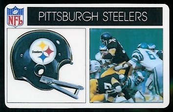 Pittsburgh Steelers 1976 Popsicle football card