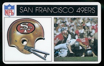 San Francisco 49ers 1976 Popsicle football card
