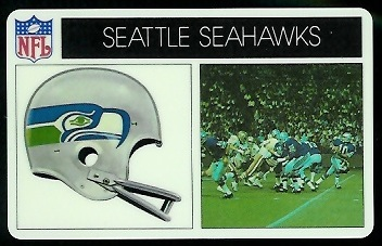 Seattle Seahawks 1976 Popsicle football card