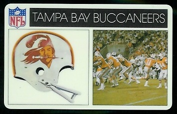 Tampa Bay Buccaneers 1976 Popsicle football card