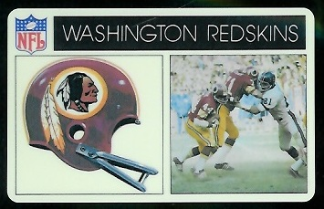 Washington Redskins 1976 Popsicle football card