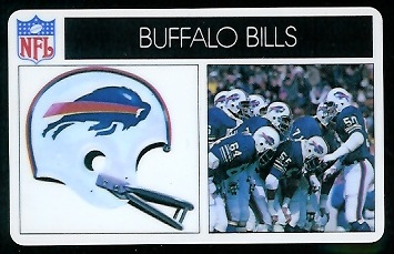 Buffalo Bills 1976 Popsicle football card