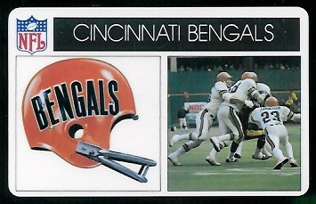Cincinnati Bengals 1976 Popsicle football card